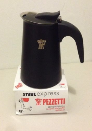Pezzetti Steel Express Matte Black 6 Cup STOVE TOP- IMPORTED ITALY