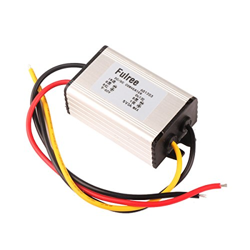 DROK DC-DC Buck Converter 9-60V 24V/36V/48V to 5V 3A Volt Regulator Synchronous Step-down Power Transformer with Aluminum Shell for Auto Electromobile Automotive Vehicle