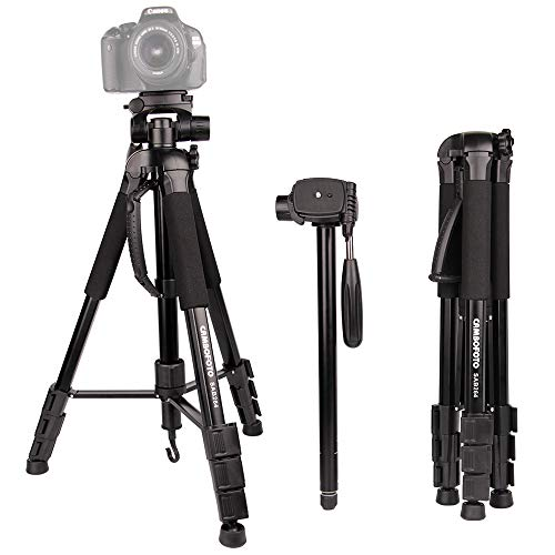 "Tripod for Camera-CAMBOFOTO 70"" 2 in 1 Tripod and Monopod Lightweight Portable Tripod for SLR/DSL Canon Nikon Sony Olympus etc with tripod bag"