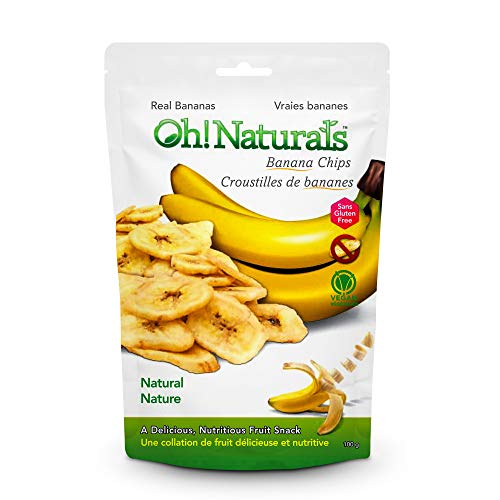 Oh! Naturals Banana Chips, Crunchy, Delicious, Nutritious, Dried Fruit Snack, Energy Packed Sweet Vegetarian Treat, 2 x…