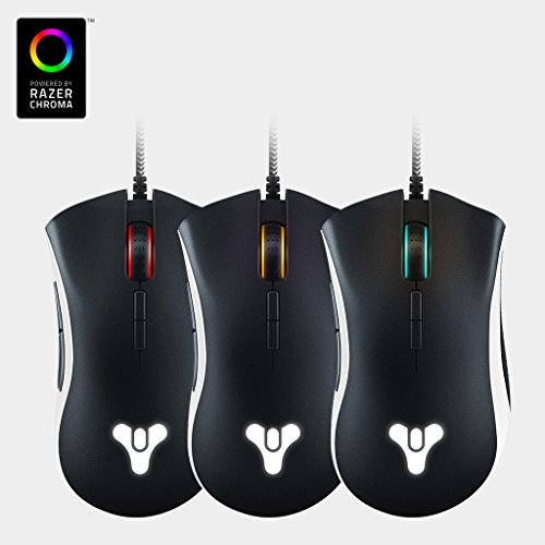 Razer DeathAdder Elite Destiny 2 Edition - Multi-Color Ergonomic Gaming Mouse - World's Most Precise Sensor - Comfortable Grip