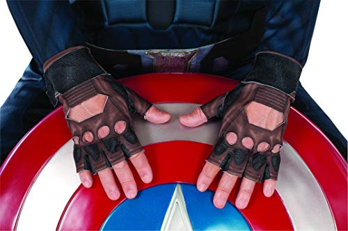 Captain America Leather Gloves (Captain America: The Winter Soldier Stealth Suit Costume Gloves, Child)