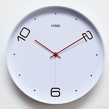 YHEGV Reloj de Pared Alrededor de lasalon silenciosa de Modo Sencillo y Moderno Reloj