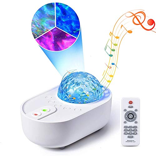 Star Projector 3 in 1 Galaxy Night Light Projector with Bluetooth Music Speaker Remote Control 3 White Noises for Bedroom Party Home Decor, Timing Sky Starry Projector for Kids and Adults