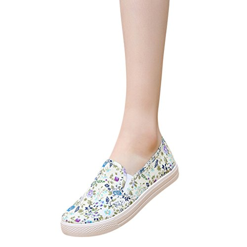 Hee Grand Girls Stampa Floreale Slip On Casual Fannullone Blu
