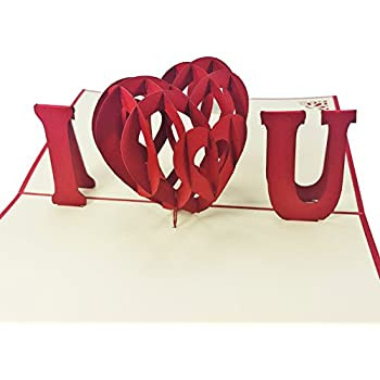 Amazon I Heart You 3d Pop Up Card For Love Valentine