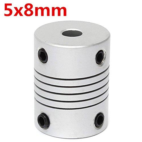 Chenxi Shop 5mm x 8mm en aluminium Raccord de manche flexible Od19mm X L25mm CNC Moteur pas à pas coupleur connecteur