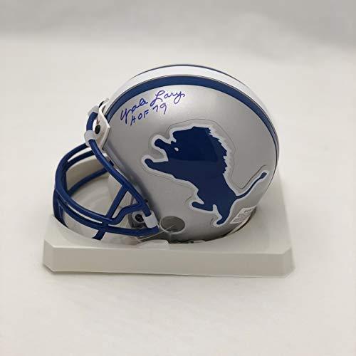 Yale Lary Detroit Lions 'HOF 79' Autographed Mini Helmet - Certified Authentic