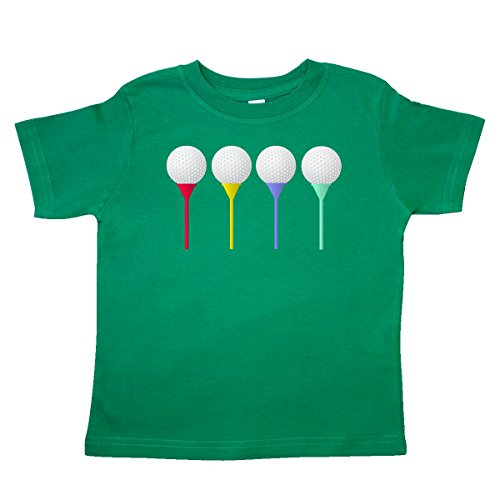 Boys Golf Shirt Top - inktastic - Rainbow Golf Tees Toddler T-Shirt 4T Kelly Green 3277