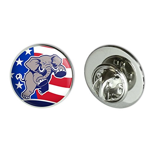 Republican Pin Elephant (GRAPHICS & MORE Angry Republican Elephant Politics GOP American Flag Metal 0.75