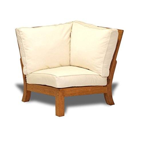 Three Birds Casual Monterey Patio Sectional Corner Chair in Teak (Monterey Sectional)