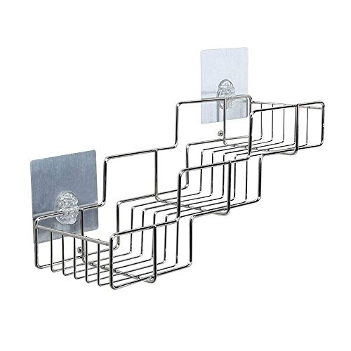 Kitchen Storage Rack, Rerii Self Adhesive Kitchen Organizer Shelf for Condiment Bottles, Shower Caddy for Shampoo