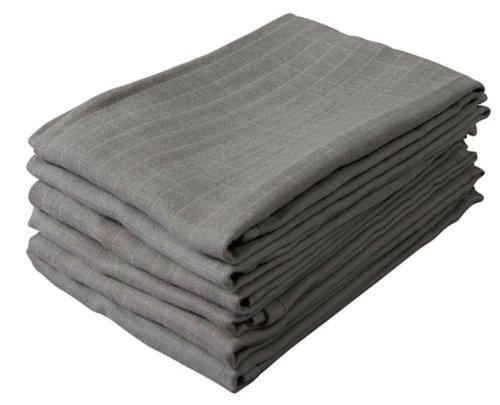 Jollein Hydrophilic Nappy Cloth (6 Pack, Grey) 00100103