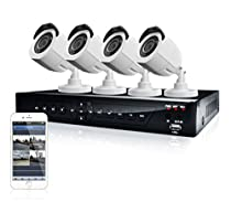 LaView 4 HD 720P Camera Security System, 4 Channel 720P HD-TVI DVR w/500GB HDD and 4 720P HD White Bullet Surveillance Camera Kit