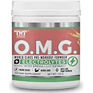 OMG Preworkout Drink for Hardcore Improvement & Performance.Boosts Energy,Motivation,Builds Muscle, Promotes Muscle Recovery,Focus (10 Oz 15 Servings, Fruit Punch)