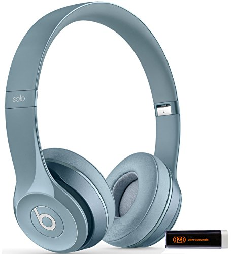 Beats by Dr. Dre Solo 2.0 Silver On-Ear Headphones Travel Bundle with Portable Charger