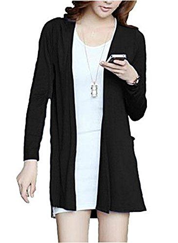 [スプリングスワロー] SpSw レディース 薄手 長袖 v ネック ボタン 無し 羽織り フィッシュテール カーディガン