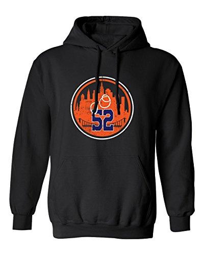 Yoenis Cespedes New York YO LOGO Men's Hoodie Sweatshirt (Black,3XL) ()
