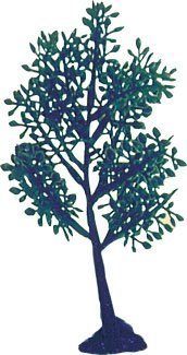 24-Piece, Branch Tree with Stand for Cake Decorating and Sceneries, 4-Inch