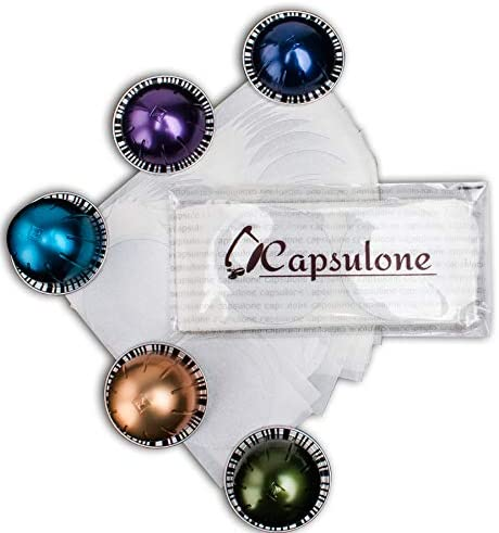 Capsulone Reusable Aluminum Foil Seals Lid sticker Compatible with Nespresso Vertuoline Capsule-120 Pcs