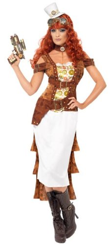 (Smiffys Steam Punk Wild West Agent Female Costume, Multi,)