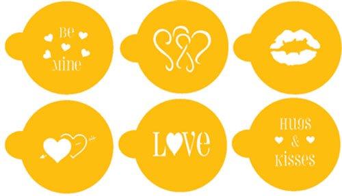 Designer Stencils C096 Valentine Cupcake/Cookie Stencils, Beige/Semi-Transparent by Designer Stencils (Image #3)
