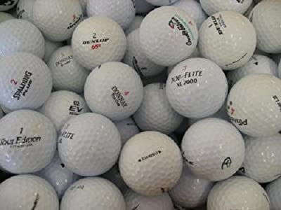120 - 10 Dozen Assorted Mint AAAAA Quality Recycled Used Golf Balls + Free Poker Chip Ball Marker