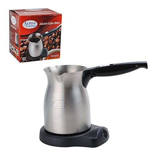 Electric Turkish Coffee Maker Kettle Hotpot 6 Cups Alpine Cuisine (Turkish Tea Kettle Electric compare prices)