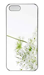 Flower Cover Case Skin for iPhone 5 5S Hard PC Transparent
