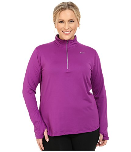 Nike Women's Dri-FIT? Extended Element 1/2 Zip Purple Dusk/Reflective Silver Outerwear 3X