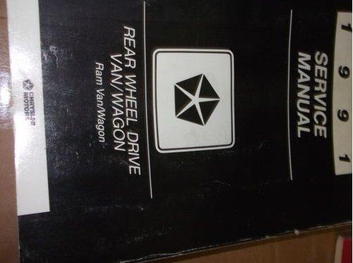 1991 Dodge Ram Van Wagon RWD Service Shop Manual OEM
