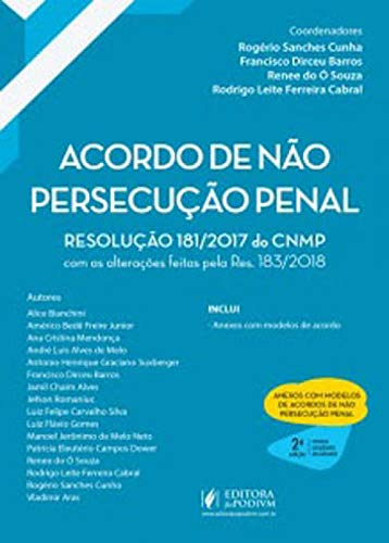 Acordo de não Persecução Penal. 2019
