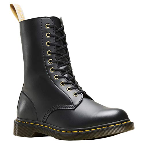 Dr. Martens - Unisex-Adult 1490 Vegan 10 Eye Boot, Size: 7 D(M) US / 6 F(M) UK / 8 B(M) US, Color: Black Felix Rub Off
