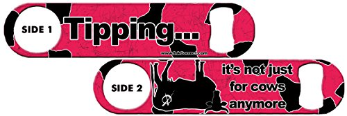 Killer Inked Bottle Opener: Cow Tipping - Hot Pink