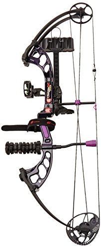 PSE Ready to Shoot Stinger X 50# Stiletto Right Hand Compound Bow, Purple