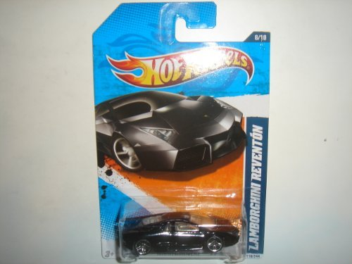 - Hot Wheels Lamborghini Reventon Black Nightburnerz 2011 118/244 die-cast