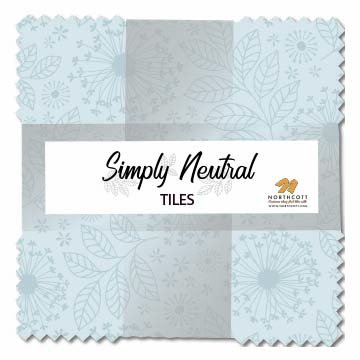 Simply Neutral~ Layer Cake 42, 10' Cotton Squares -Northcott 10 Cotton Squares -Northcott TSIMPL42-10