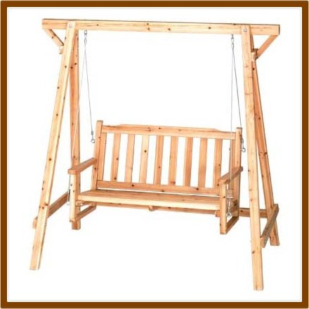 Rustic Wooden Garden Chair Swing New