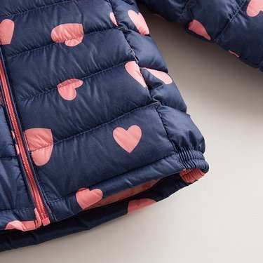 marc janie Baby Boys Girls Kids' Outerwear Ultra Light Down Jacket with Removable Hood 6T Blue Pink Love by marc janie (Image #4)
