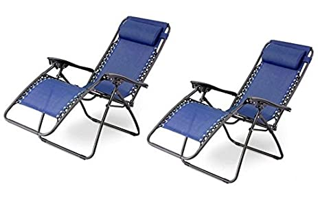 Outsunny Zero Gravity Recliner Lounge Patio Pool Chair - 2 PACK - Blue  sc 1 st  Amazon.com & Amazon.com : Outsunny Zero Gravity Recliner Lounge Patio Pool ... islam-shia.org