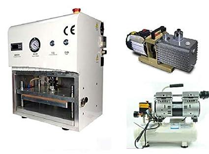 GOWE OCA al vacío laminador máquina restauración plastificado máquina + compresor de aire y bomba de
