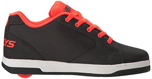 Heelys Mens Propel 2.0 Fashion Sneaker Charcoal / Orange / Ballistic
