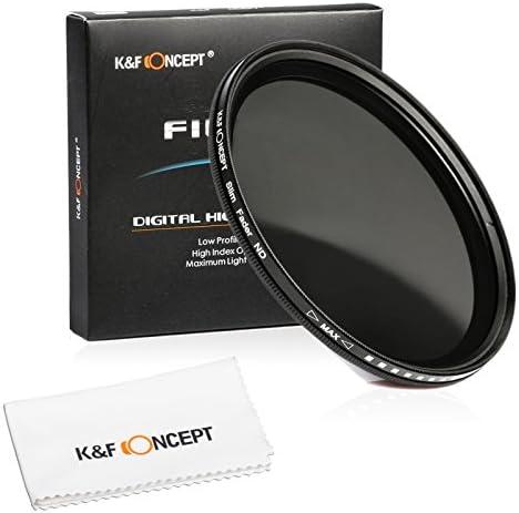 [スポンサー プロダクト]43mm NDフィルター、K&F Concept 可変式NDフィルター 43mm 減光フィルター 減光範囲ND2~ND400 超薄型 カメラ用フィルター+超極細繊維布ホワイト