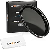40.5mm Neutral Density Filter, K&F Concept 40.5mm Slim Variable Fader ND Filter Adjustable ND2 to ND400 Filter + Cleaning Cloth