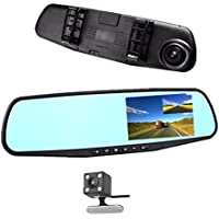 Car DVR Rear view Mirror Video Recroder 4.3 inch Car Camera Dual lens Cam night Vision front and rear
