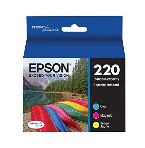 - Epson T220520 DURABrite Ultra Color Combo Pack Standard Capacity Cartridge Ink (WF-2760, WF-2750, WF-2660, WF-2650, WF-2630, XP-424, XP-420, XP-320)