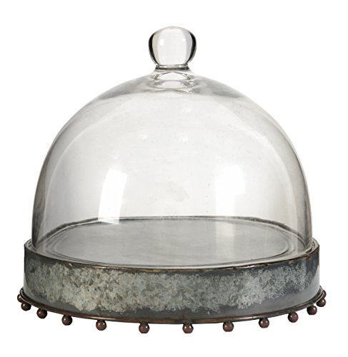 A&B Home 34297 Knox Plate with Glass Dome, Medium ()
