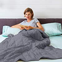 "Isilila Glass Weighted Blanket 60"" x 80"" 15 lbs/ 20 lbs - Queen Size Cotton Provide Comfortable Sleep Quality for Kids &..."