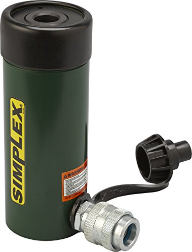 Simplex RC123A Steel Single Acting Center Hole Cylinder, 8695 PSI, 0.77