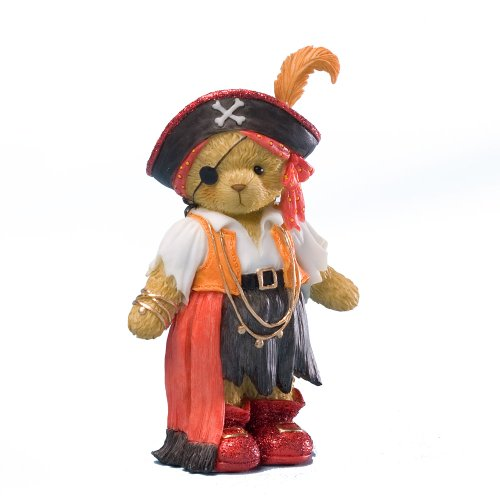 Enesco Cherished Teddies Collection Red Dressed Pirate Figurine